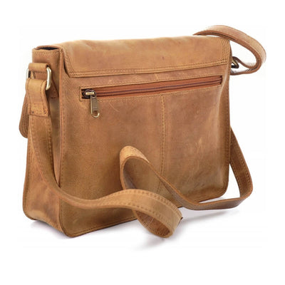 Urban Forest Apache Small Leather Satchel Bag - Cognac