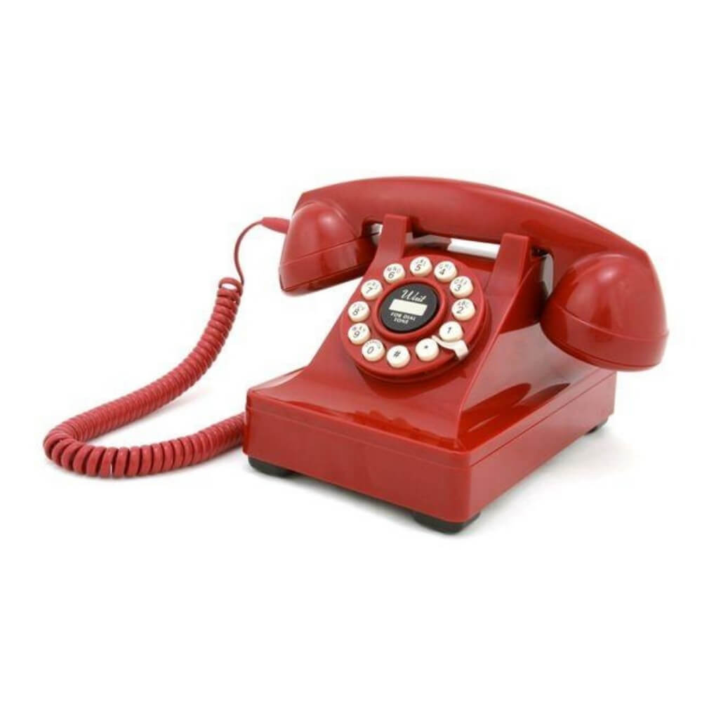 Retro 1950's Red Desk Phone