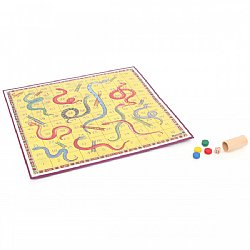 Retro Snakes and Ladders Board Game