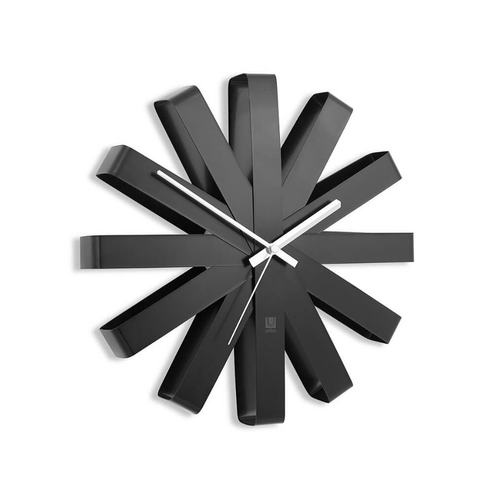 Umbra Ribbon Clock Black