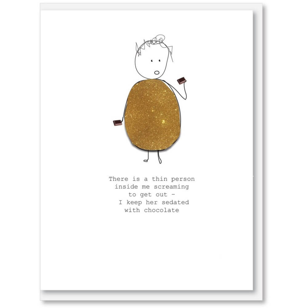 NZ MADE GREETING CARD - Thin Person