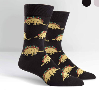 Sock It To Me Socks - Men's Crew - Tacosaurus
