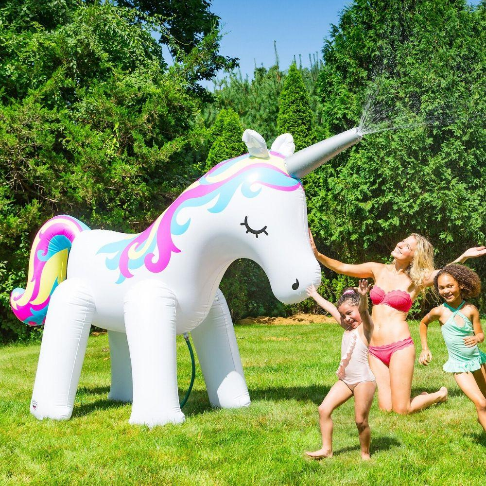 Big Mouth Ginormous 6ft tall Unicorn Sprinkler Inflatable