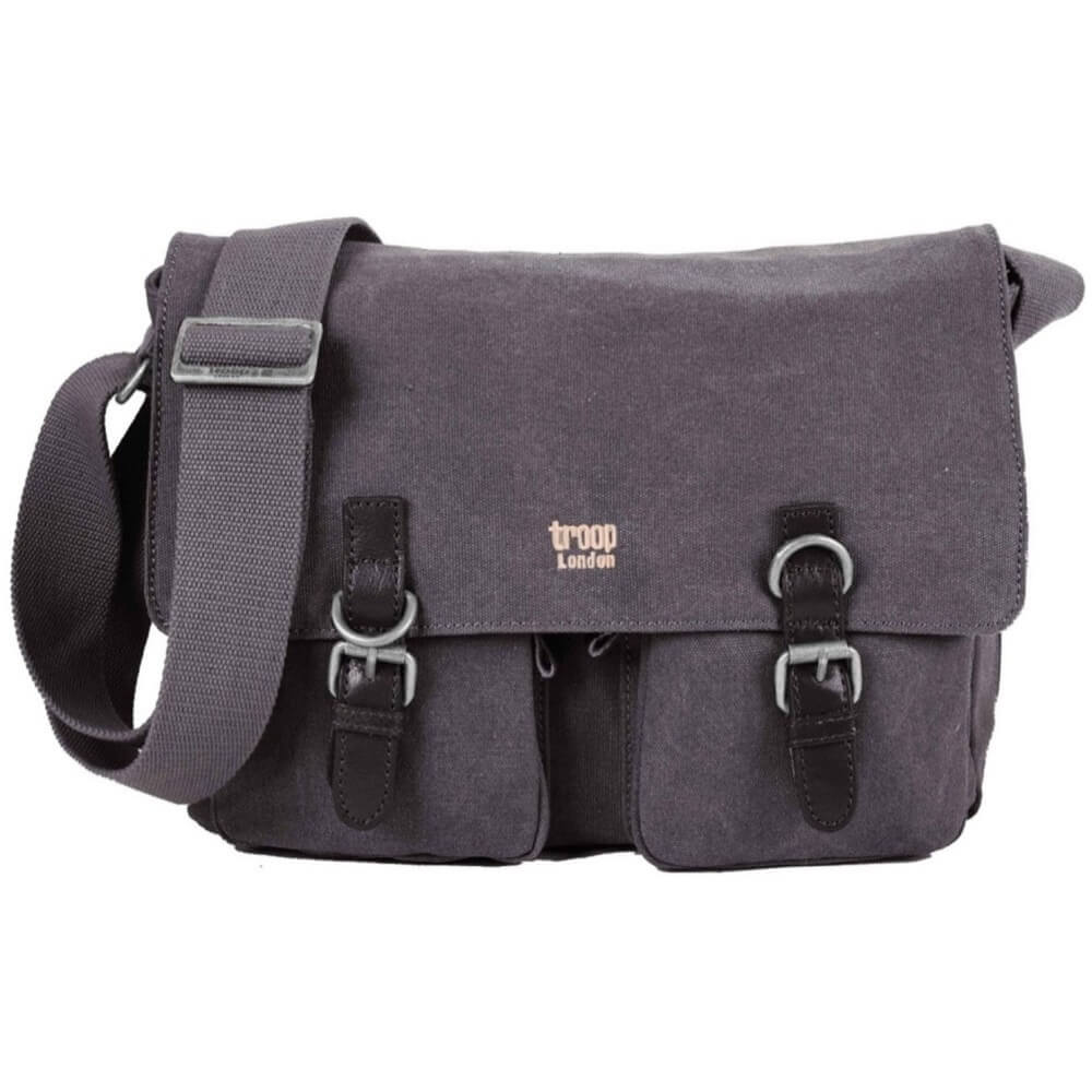 Troop Classic Messenger Bag - Charcoal