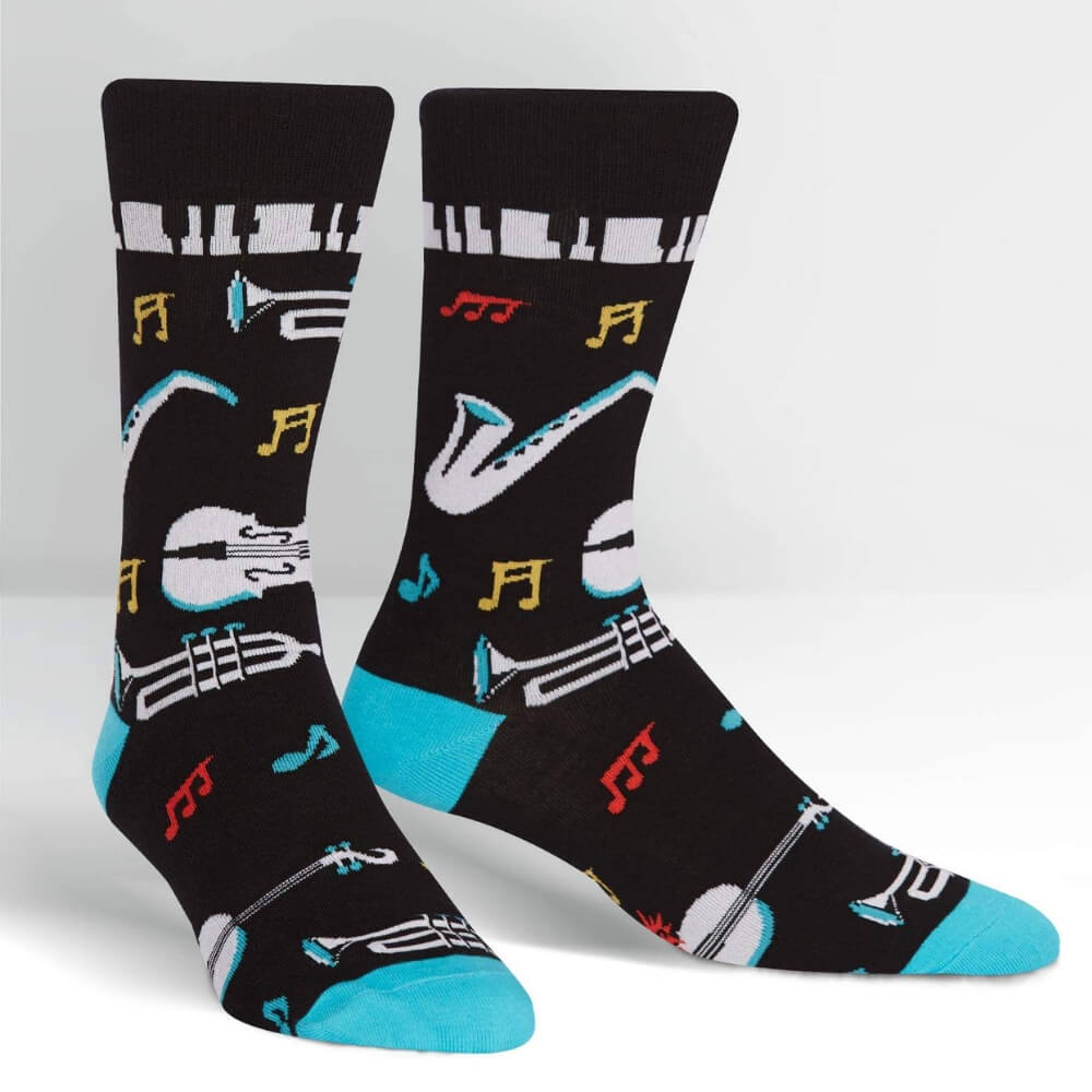 Sock It To Me Socks - Men's Crew - All That Jazz