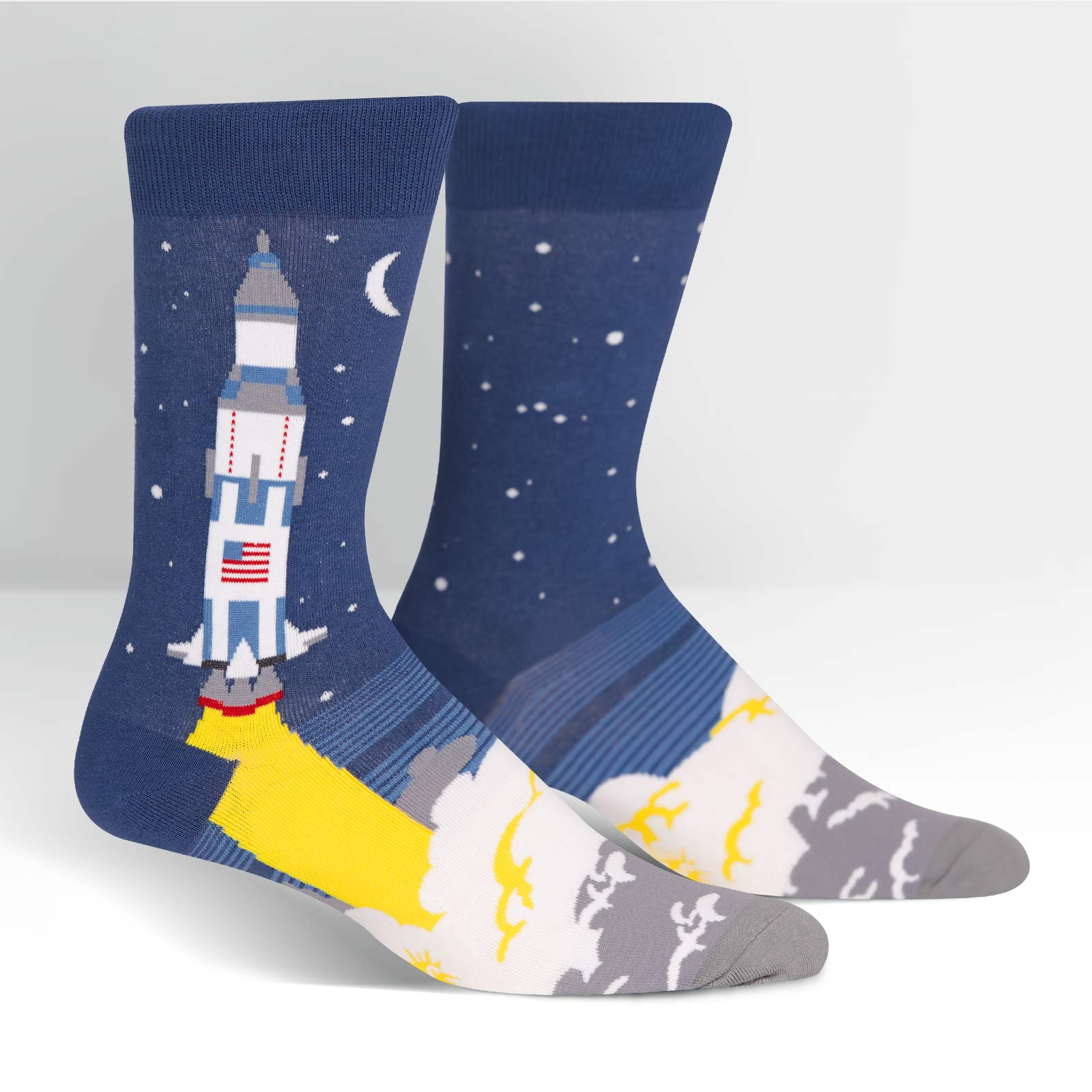 Sock It To Me Socks - Men's Crew- 3, 2, 1 Lift Off