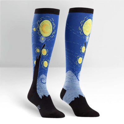 Sock It To Me Socks - Women's Knee - Starry Night