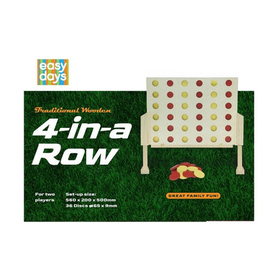 Giant Wooden Outdoor Game 4 In a Row from funky gifts nz