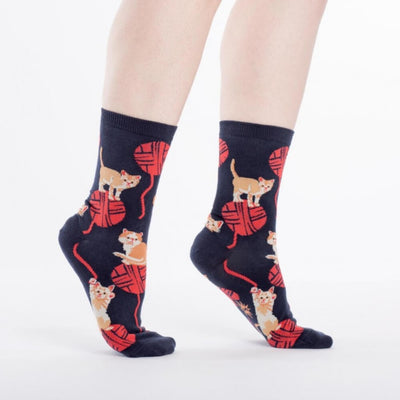 Sock It To Me Socks - Women's Crew - Kitten Knittin