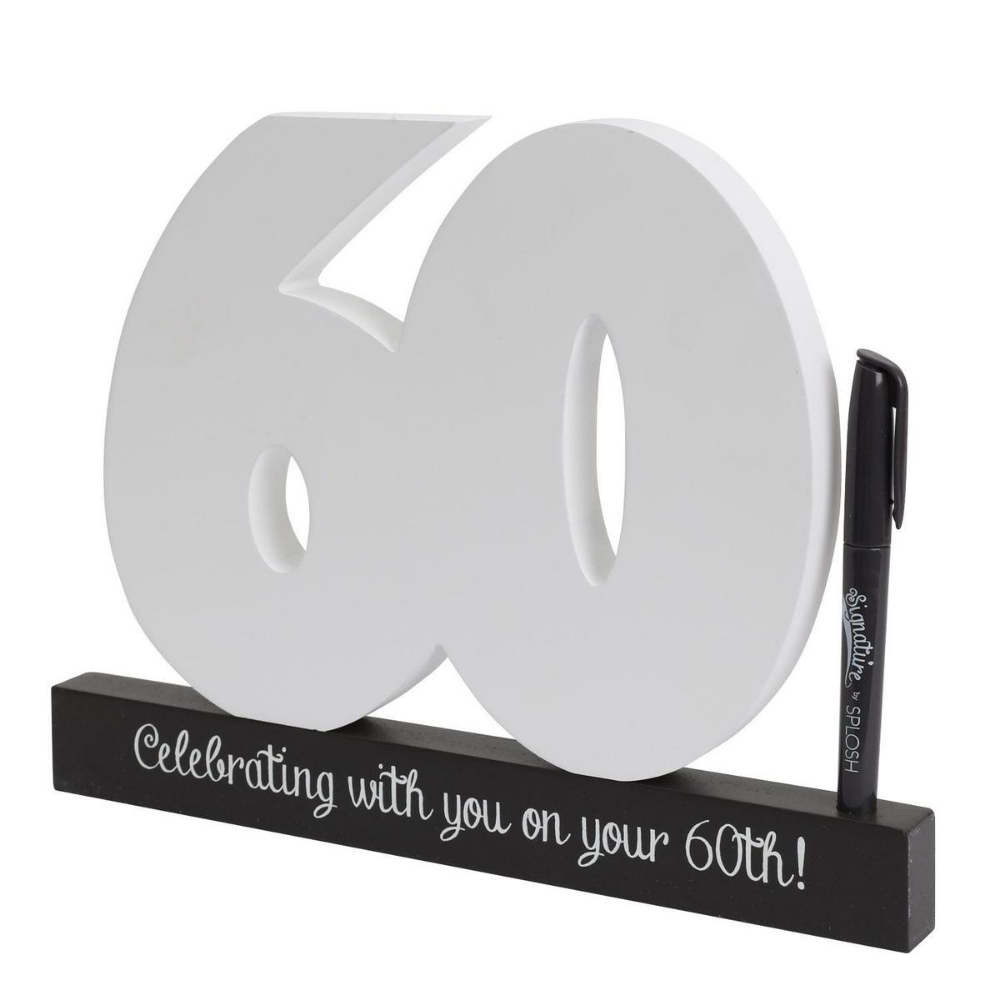60th signature letters from Funky Gifts NZ