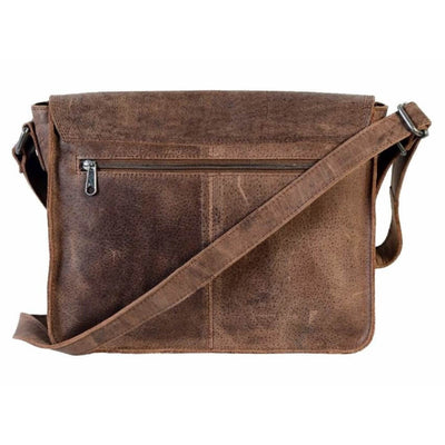 Urban Forest Apache Small Leather Satchel Bag - Tobacco