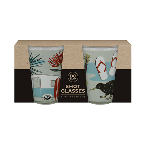 Shot Glass Set Kiwi Tour Mixed