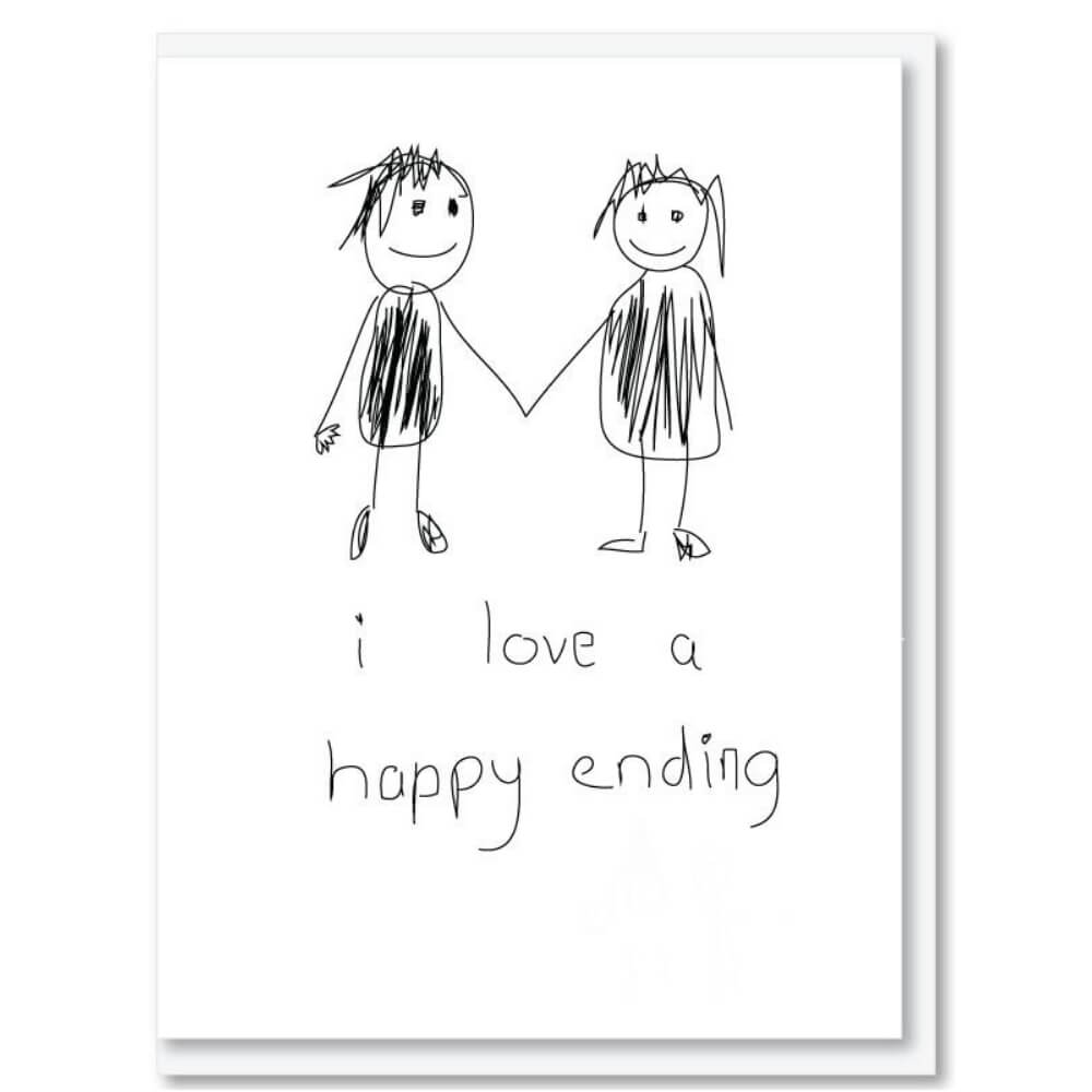 NZ MADE GREETING CARD - HAPPY ENDING