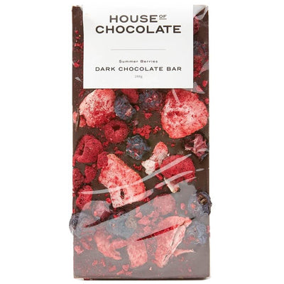 House of Chocolate Summer Berries Dark Chocolate Block