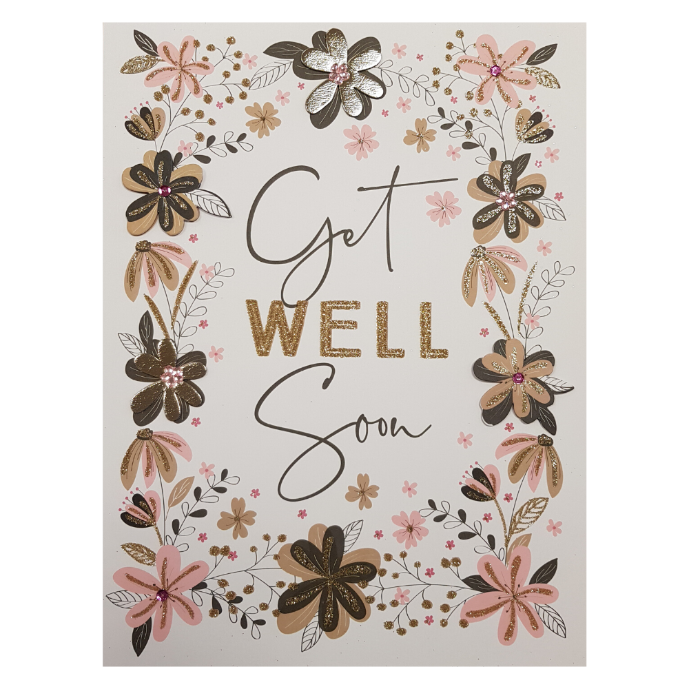 Large Greeting Card Get Well Soon Funky Gifts NZ