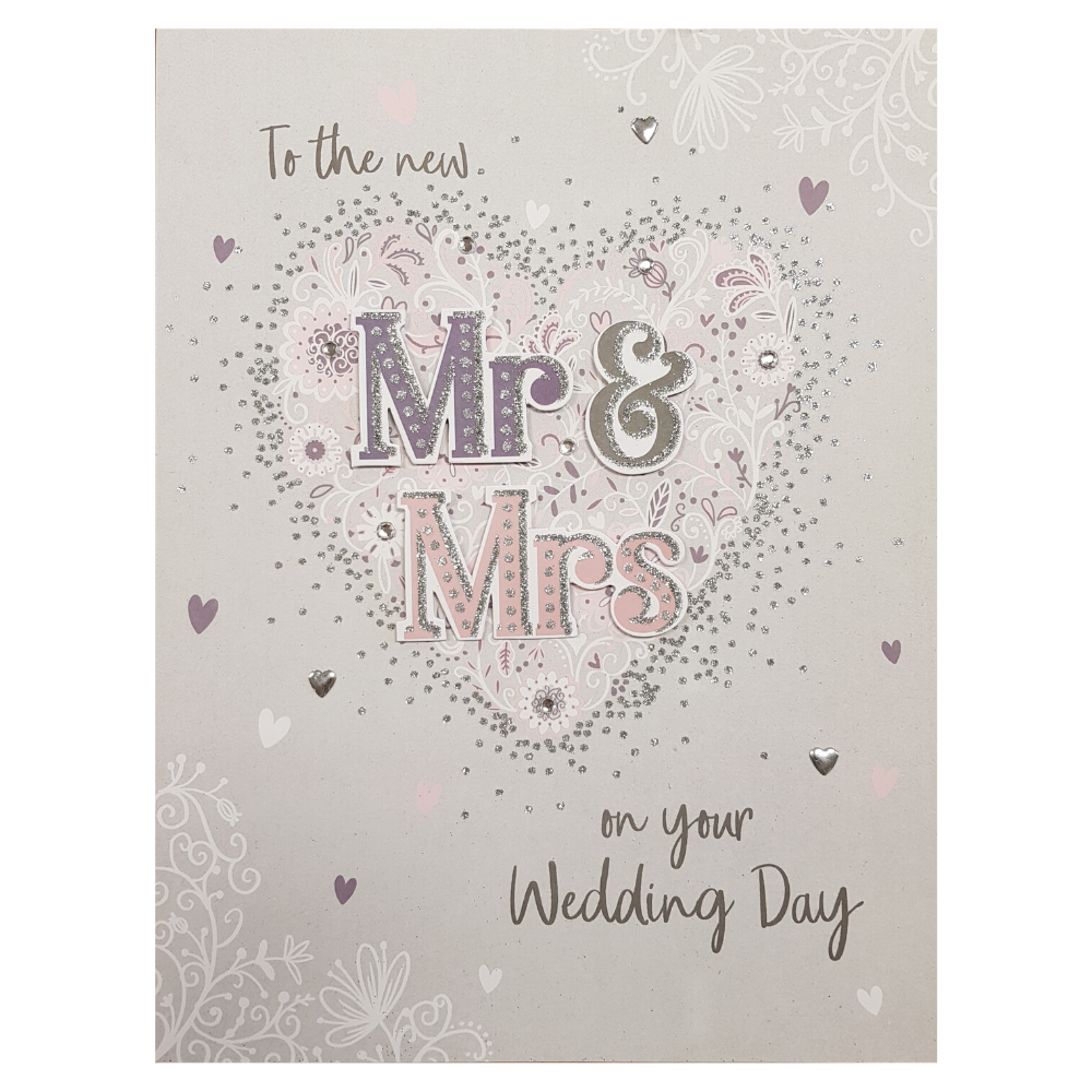 Giant Greeting Card To the new mr and mrs on your wedding day