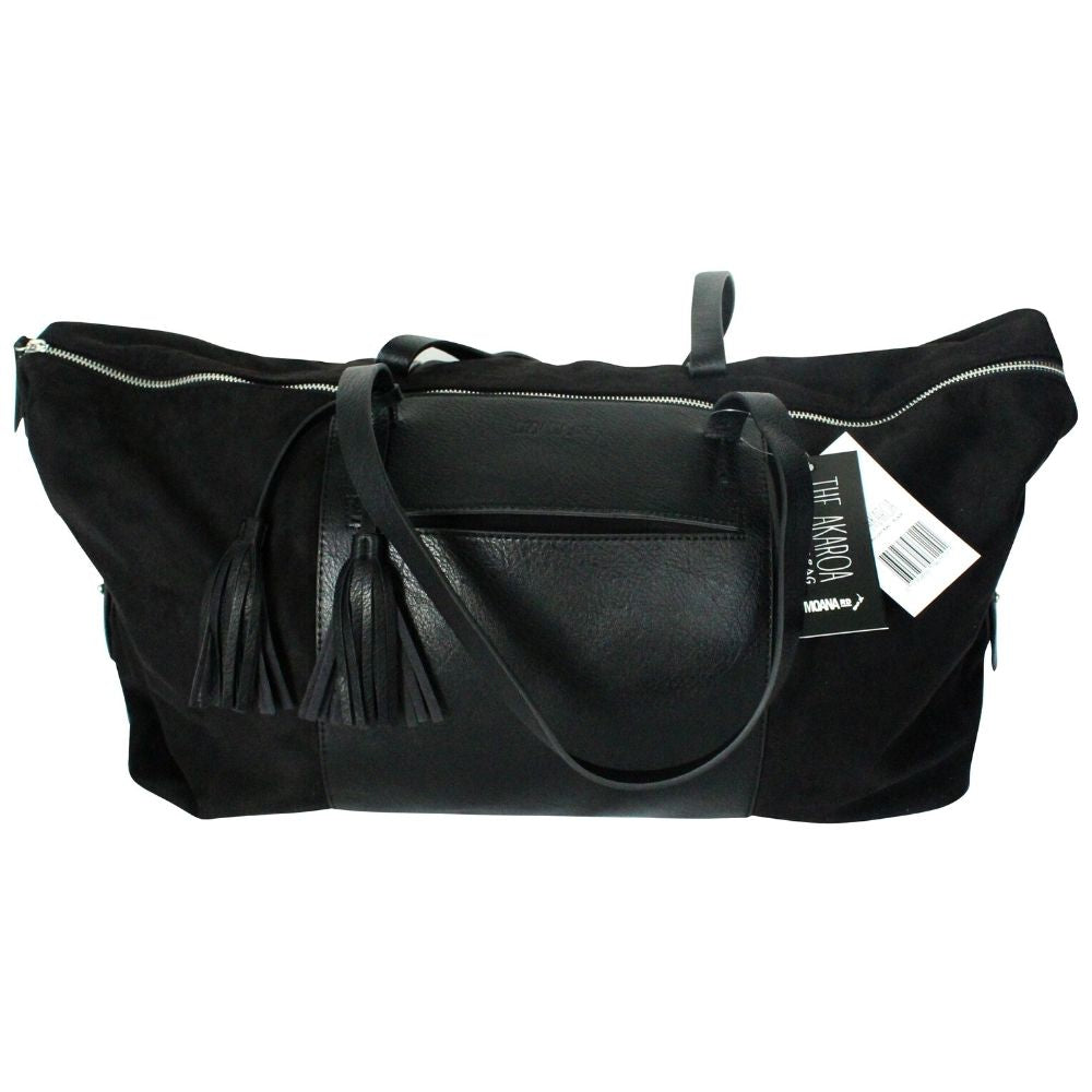Akaroa Overnighter Bag - Black Moana Road Leather