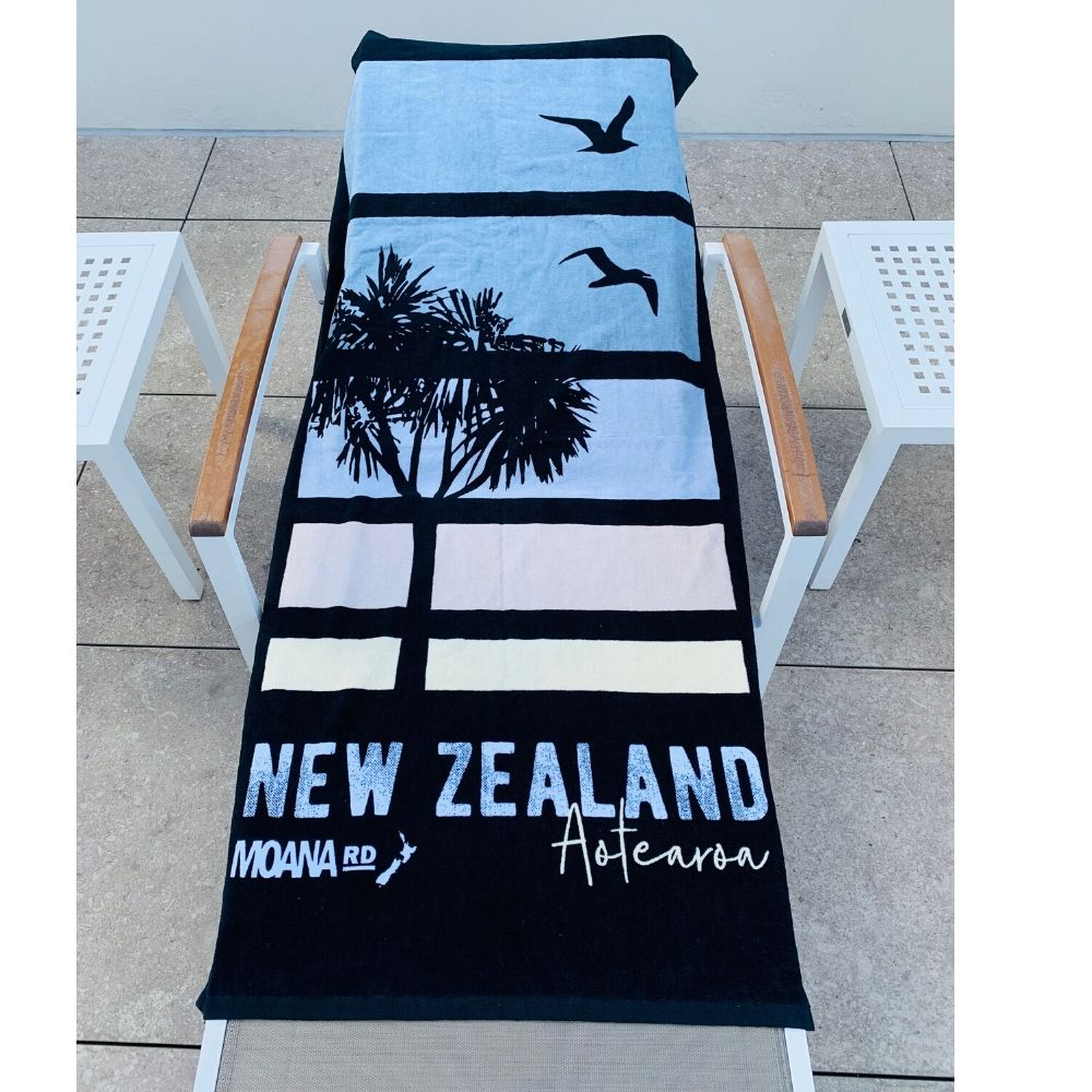 Moana Road Beach Towel - Auckland Sunset