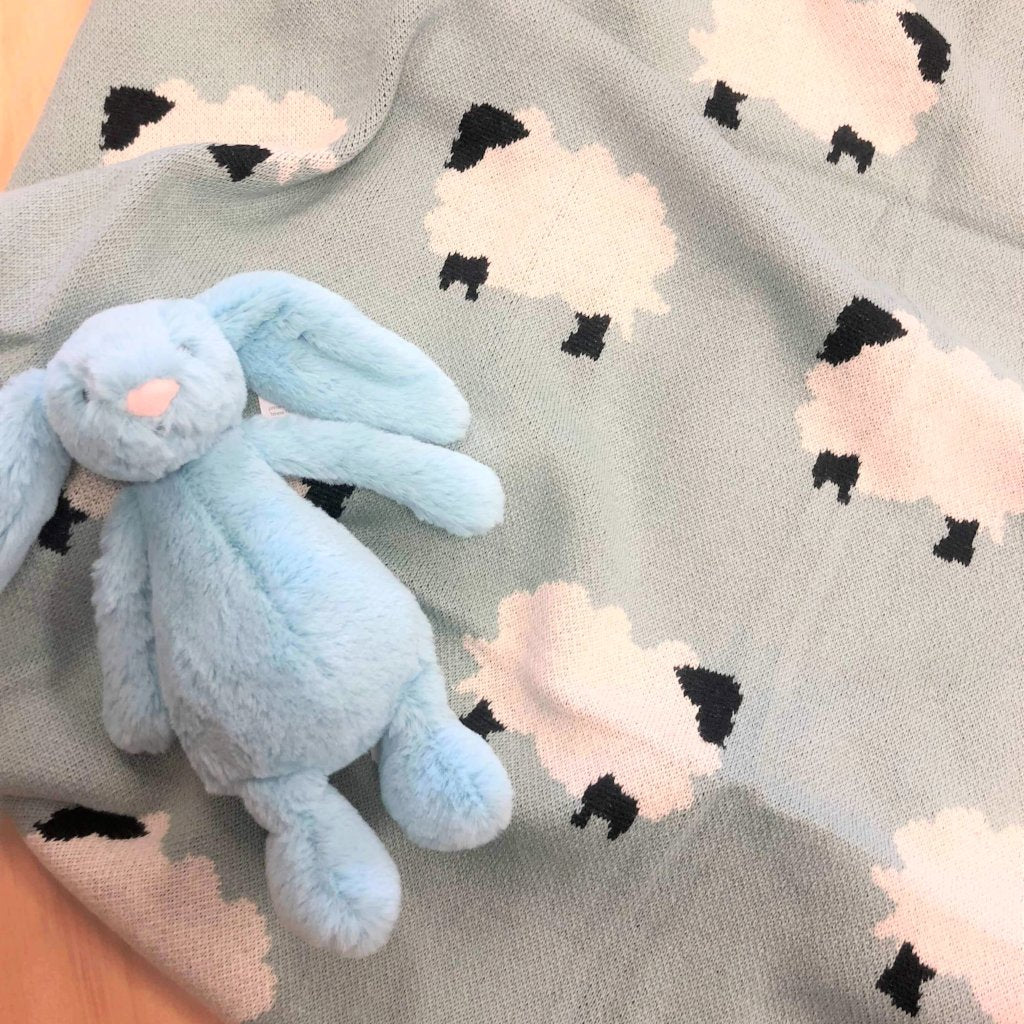 Blue Sheep Baby Blanket