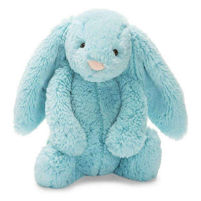 Bashful Bunny by Jellycat Soft Toy Small Aqua from Funky Gifts NZ