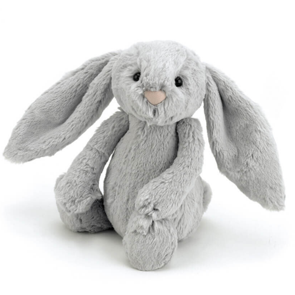 Bashful Bunny Jellycat Soft Toy Silver Small Funky Gifts NZ