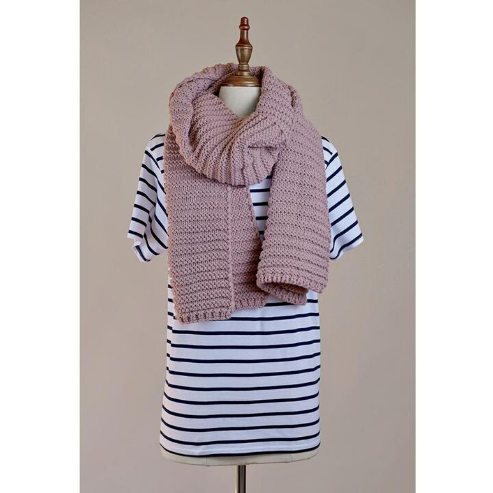 Hello Friday Best Friend Scarf MAUVE Funky Gifts NZ