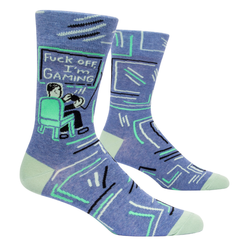 Blue Q Mens Crew Socks Fuck Off I'm Gaming from Funky GIfts NZ