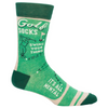 Blue Q Mens Crew Socks Golf Socks Swing Your Thing from Funky Gifts NZ