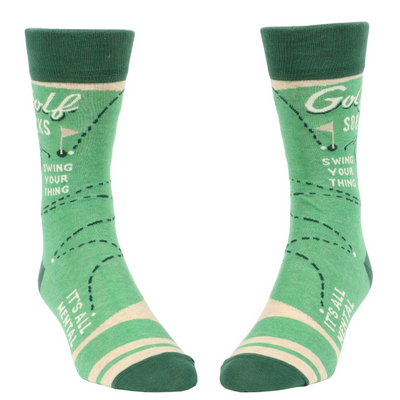 Blue Q Socks – Men's Crew – Golf