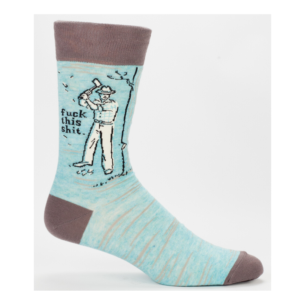 Blue Q Socks – Men's Crew – F*ck This Shit