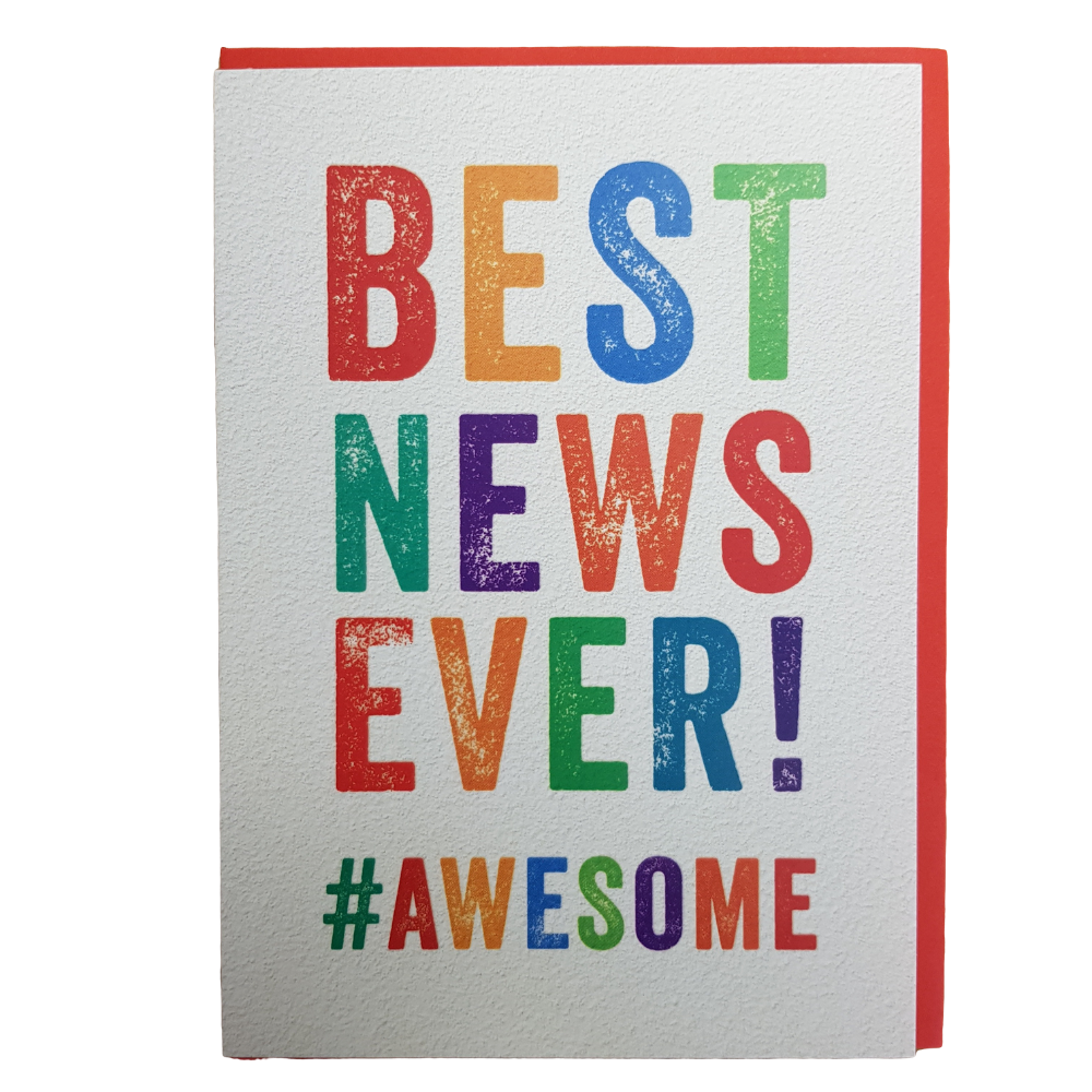 Best News Ever #awesome Greeting Card Funky Gifts NZ