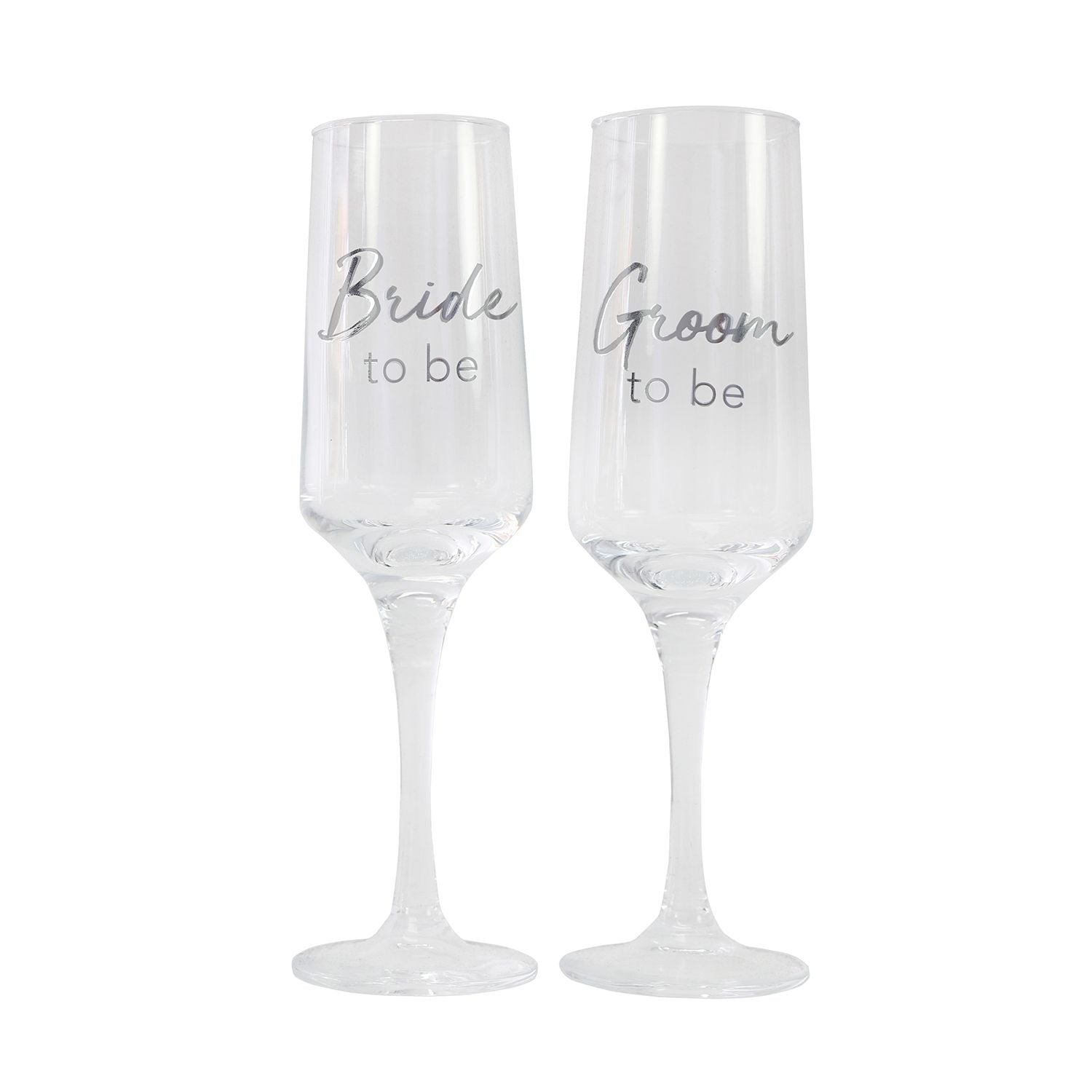 Engagement Champagne Flutes - Bride & Groom To Be