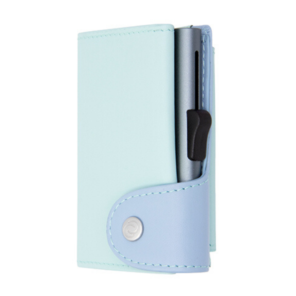 C-Secure Extra Large Cardholder and Coin Wallet Aqua Ice Grey Colour from Funky Gifts NZ