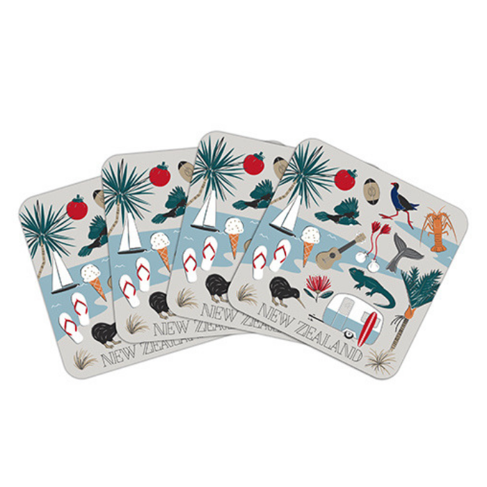 Coaster Set Kiwi Tour