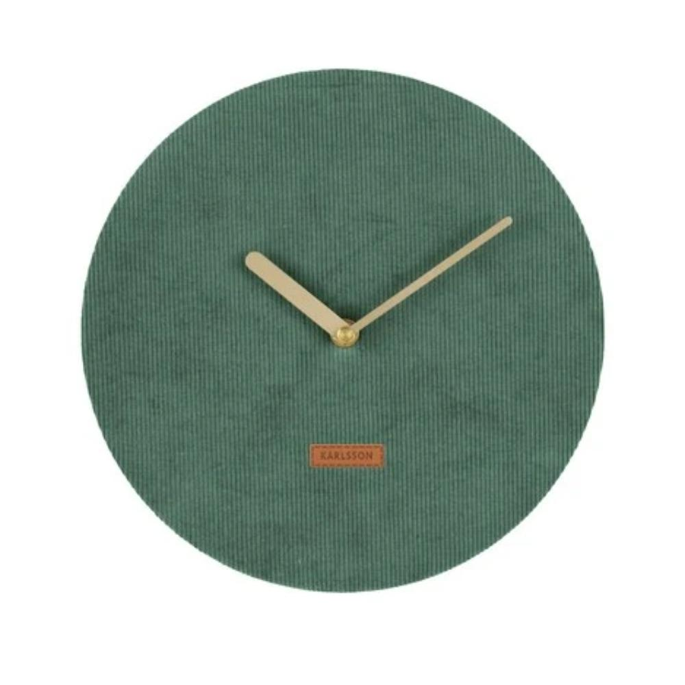 Karlsson Corduroy Clock Green New Zealand