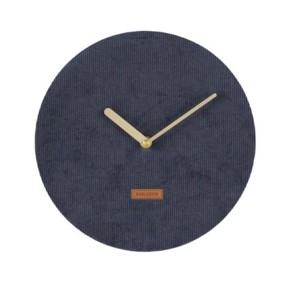 Karlsson Corduroy Clock Blue