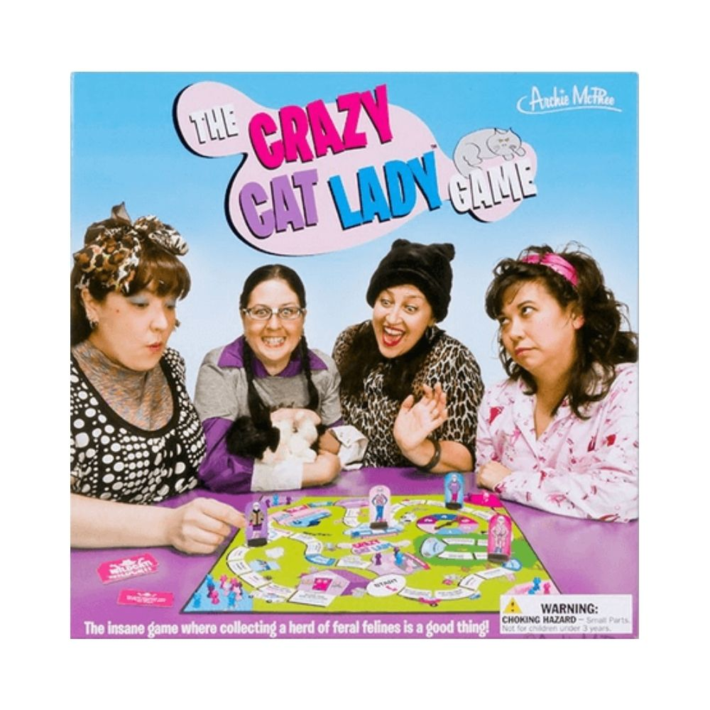 The crazy cat lady game from funky gifts nz