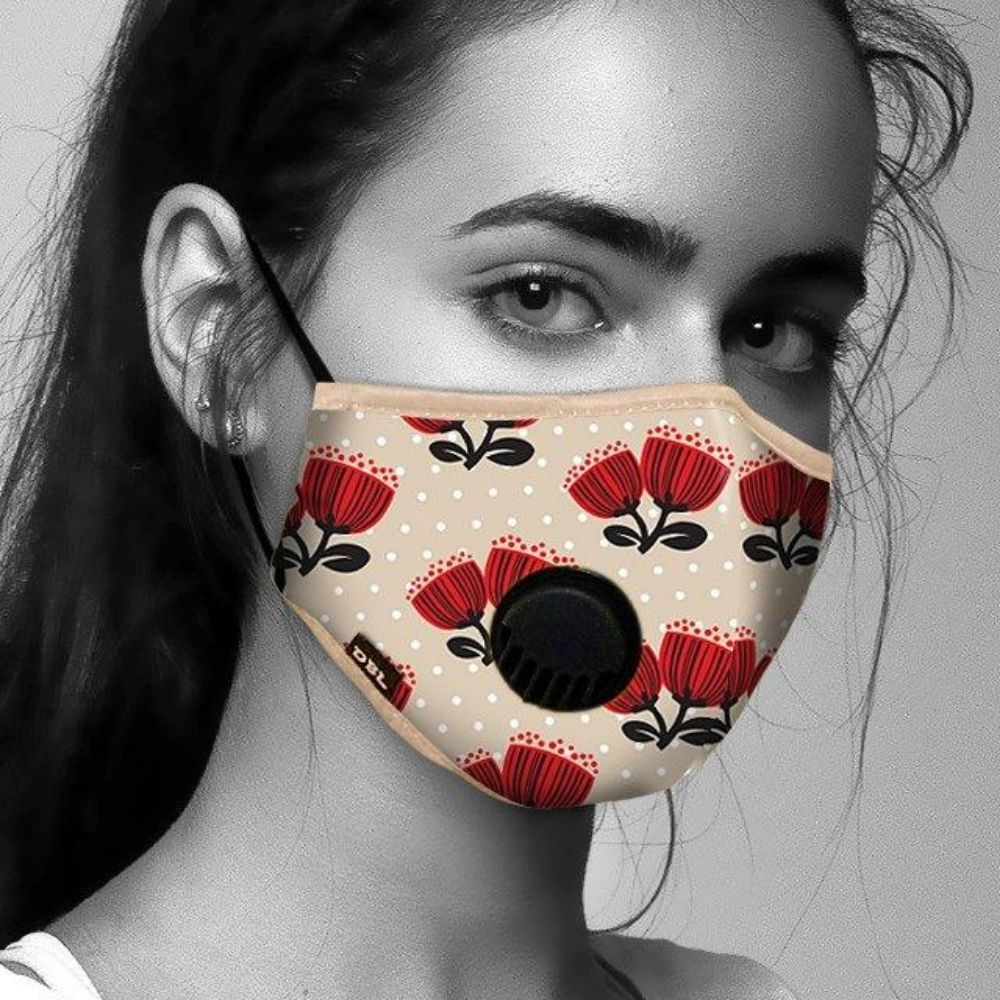 Pōhutukawa Design Face Mask from Funky Gifts NZ