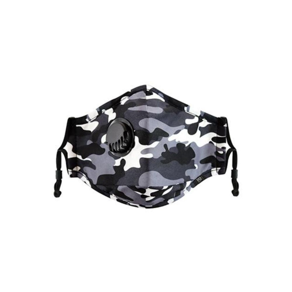 Dq and Co Camo Face Mask with valve Camo from Funky Gifts NZ