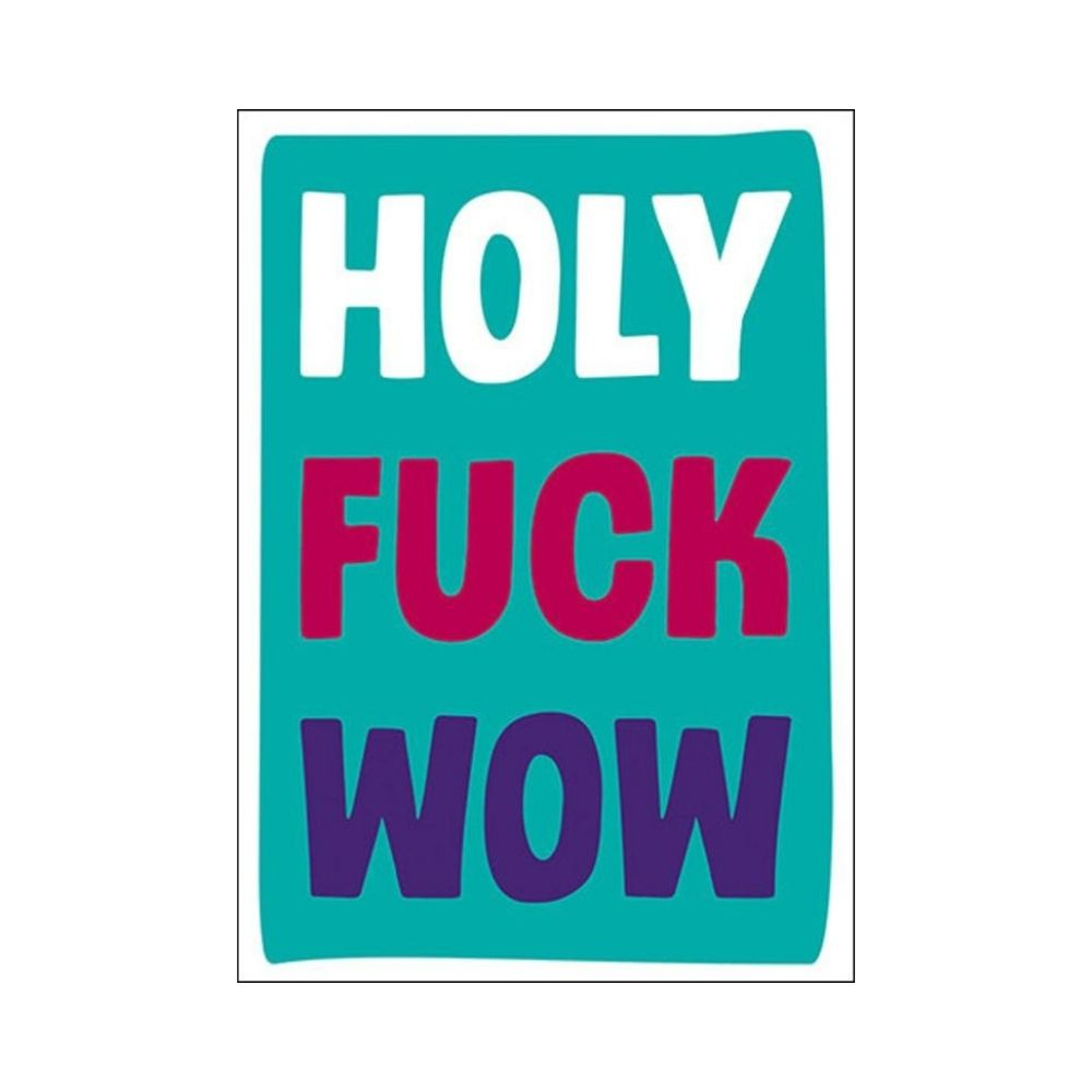holy fuck wow greeting card from funky gifts nz