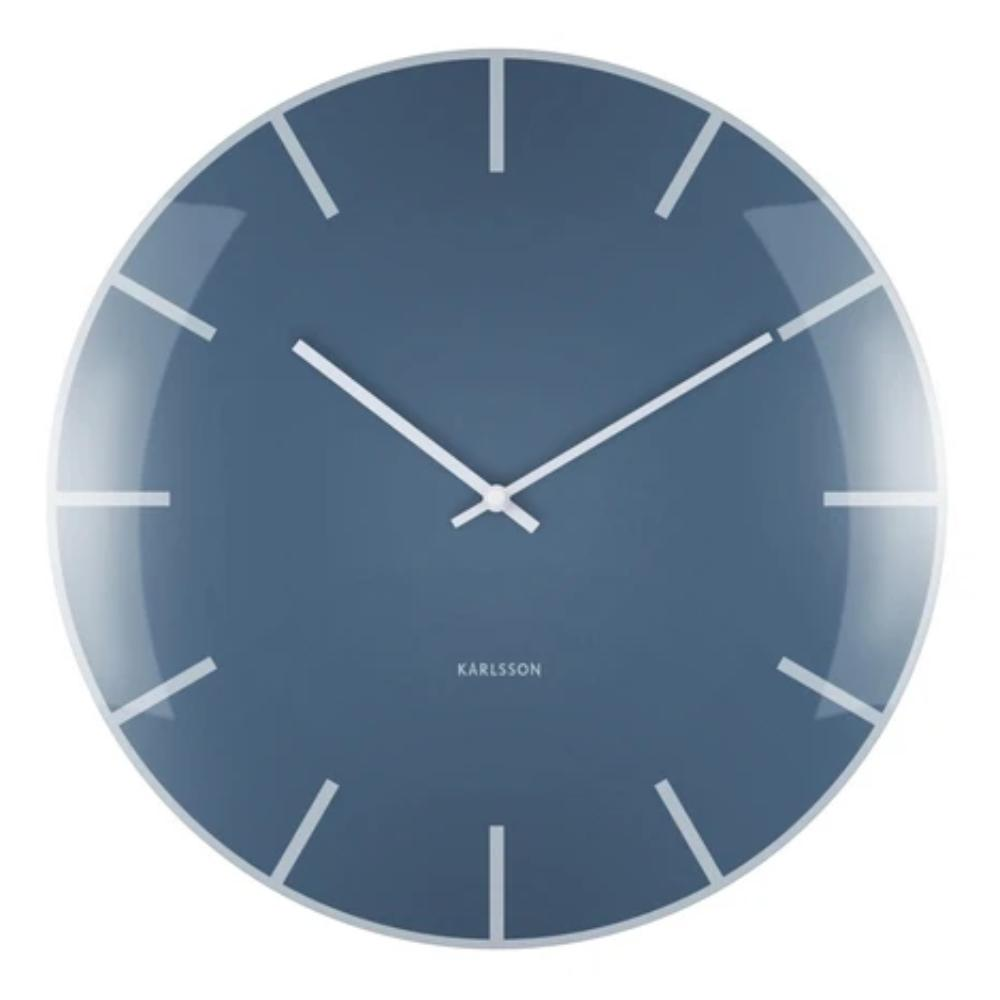 Karlsson Wall Clock Glass Dome - Blue