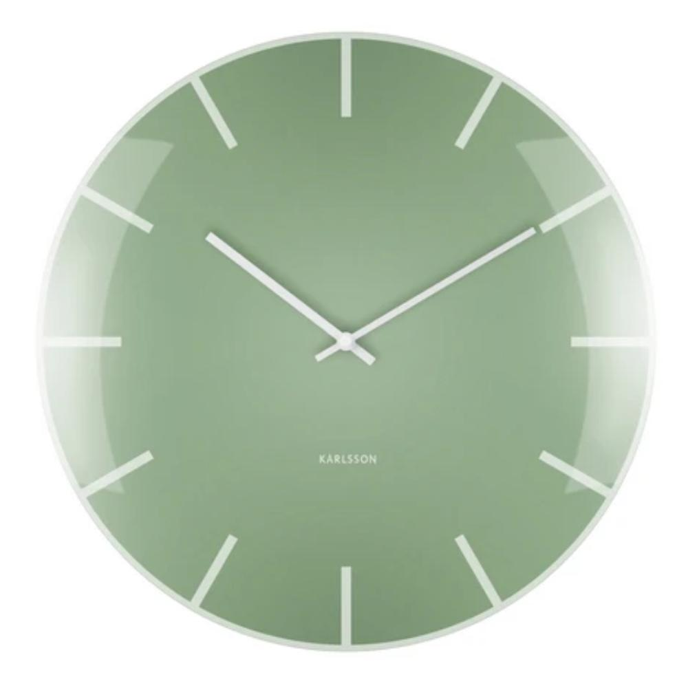 Karlsson Glass Dome Wall Clock Green New Zealand