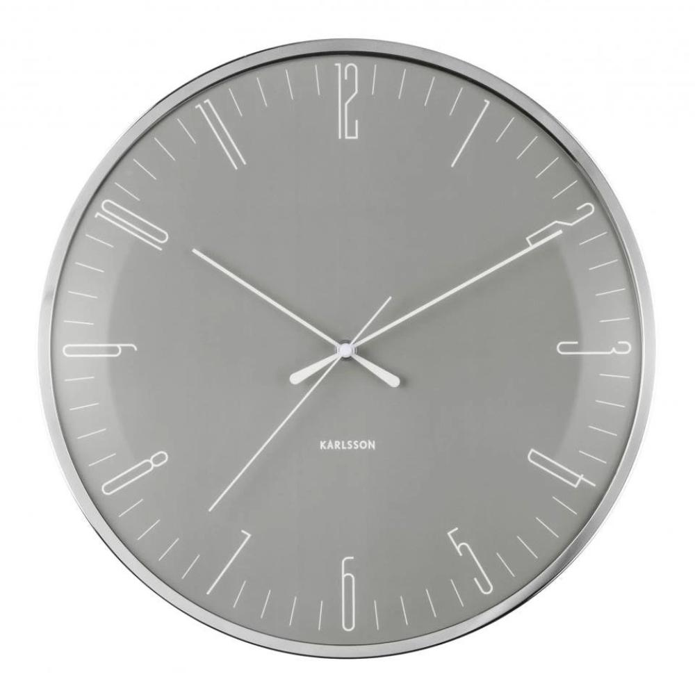 Karlsson Wall Clock Dragonfly - Grey