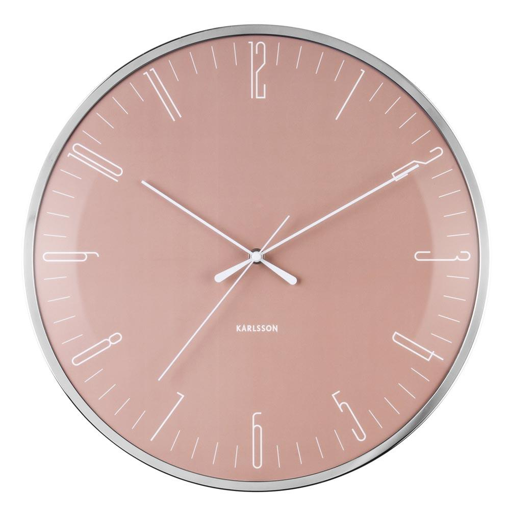 Karlsson Wall Clock Dragonfly - Pink