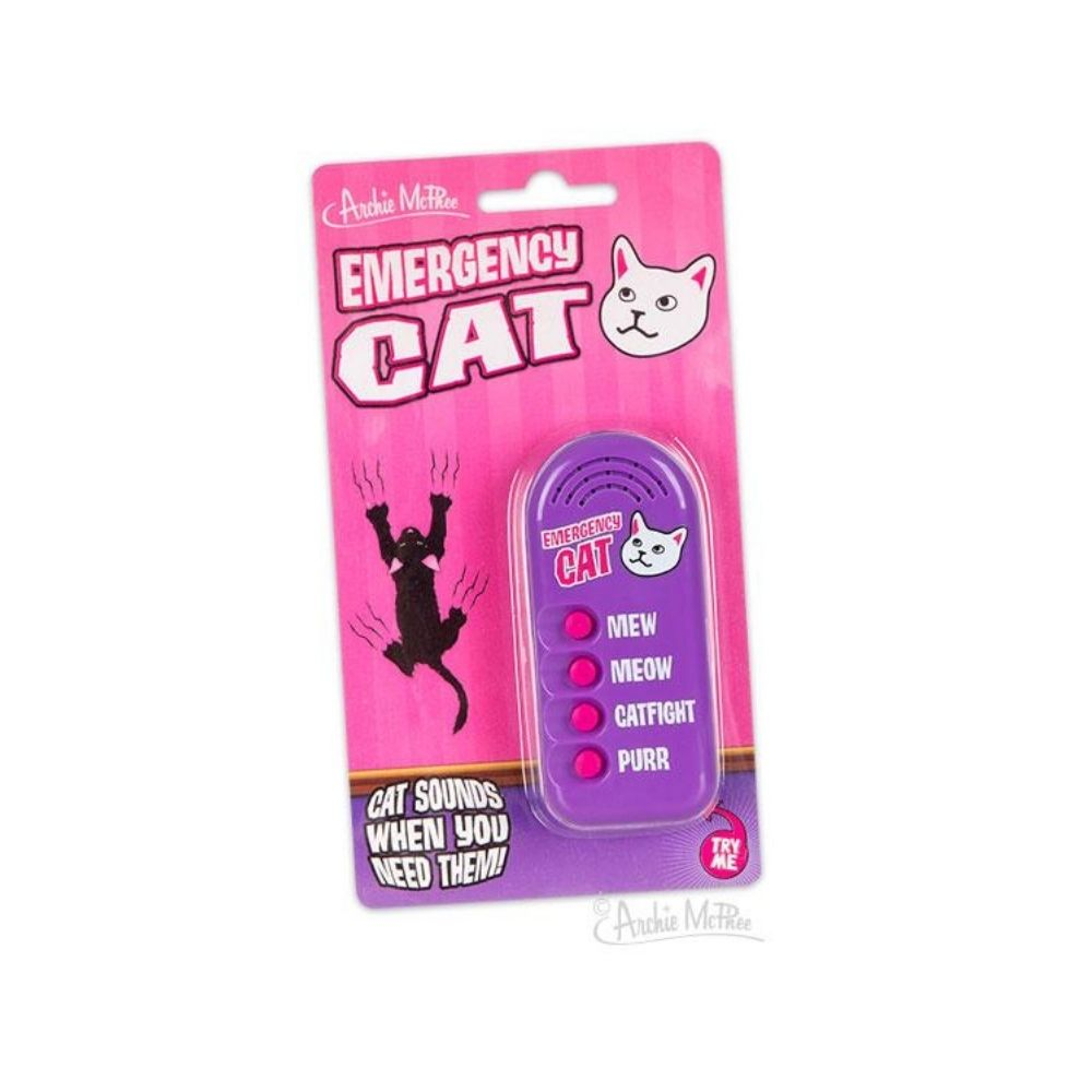 Emergency Cat Novelty Noisemaker from Funky Gifts NZ