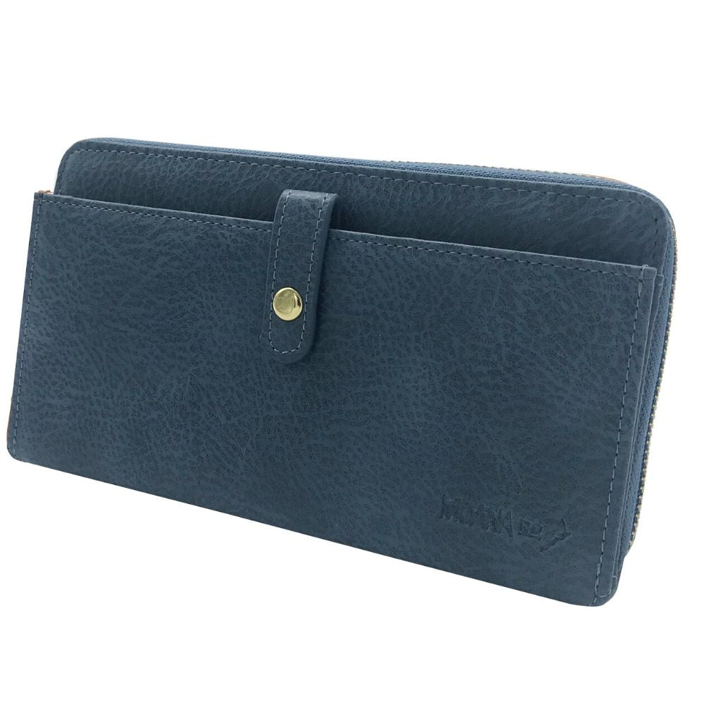 Fitzroy Wallet - Blue Leather Moana Road