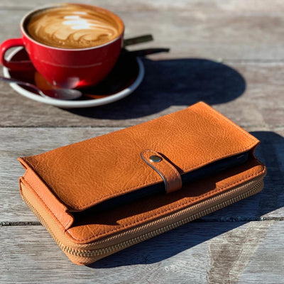 Fitzroy Wallet - Tan Leather Moana Road