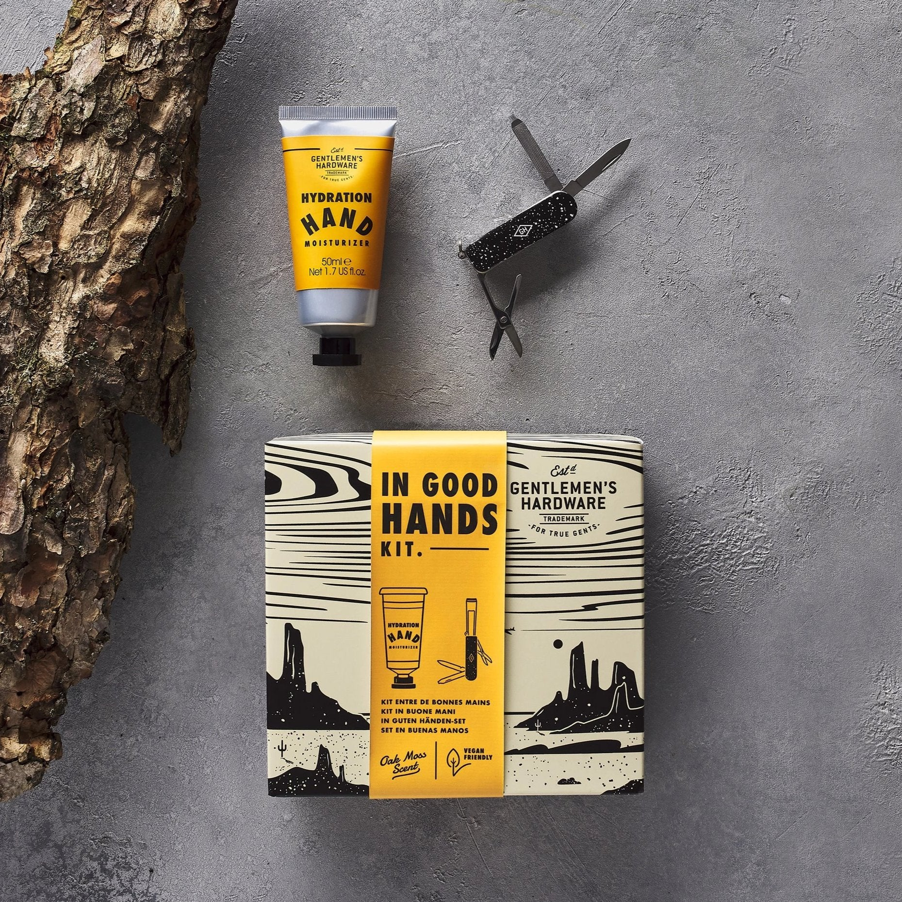 Gents Hardware - In Good Hands Kit Moisturizer and Manicure Tool
