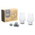 Gents Hardware - Whiskey Lovers Set 2 dram glasses and 4 whisky stones