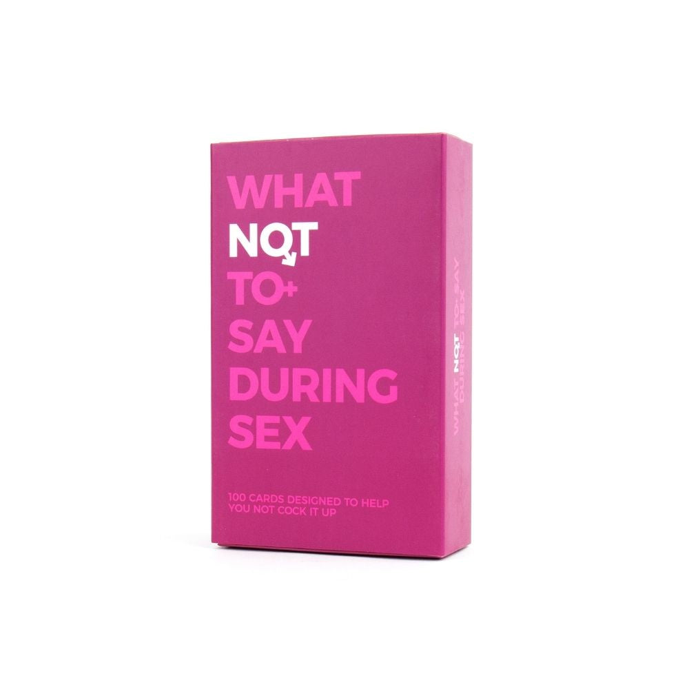 What Not To Say During Sex Cards from Funky Gifts NZ